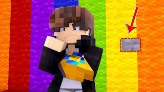 Minecraft: - ENCONTRE O BOTÃO NESSE ARCO IRIS - ‹ JUAUM ›