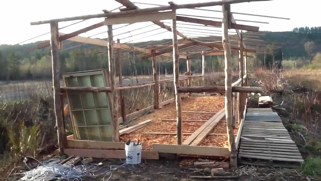 Off Grid Greenhouse : Off grid living greenhouse youtube