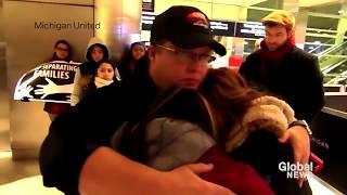 Man facing deportation tearfully says goodbye to his family at Detroit airport