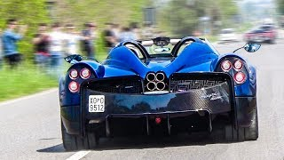 $2.4M Pagani Huayra Roadster SOUND - Acceleration & Revs