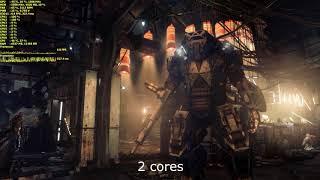 Deus Ex: Mankind Divided. FX-8350 scalability test (8 vs 6 vs 4 vs 2 cores)