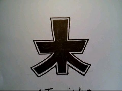 How To Draw Green Power Ranger Mike Super Samurai Symbol On Paper