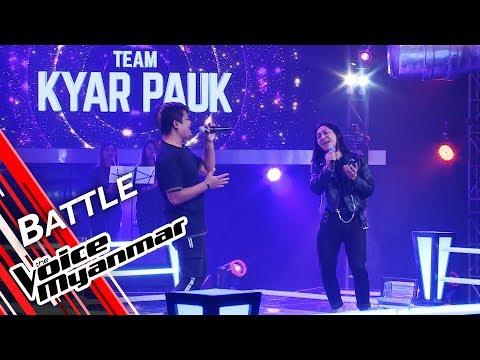 Jue Jue VS Judson Fish: ႀကိဳေနေစခ်င္တယ္ (G Latt)   Battle - The Voice Myanmar 2019