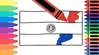 How to Draw the Paraguay Flag - Coloring Pages for kids - Draw the Paraguayan Flag   Tanimated Toys