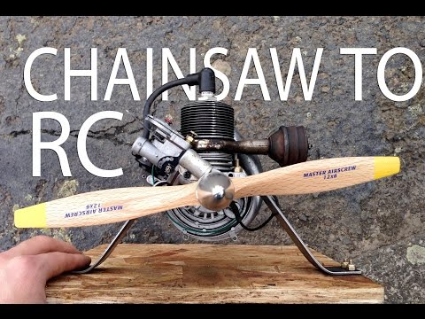 Antique O&R Chainsaw Engine Converted for RC Airplane - THE BENCH TEST