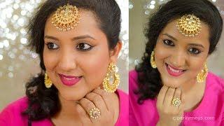 No Foundation No Eyeshadow Simple Eid Makeup | Indian Makeup | Perkymegs