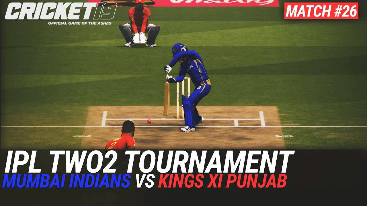 CRICKET 19 - IPL2020 TWO2 - MATCH #26 - MUMBAI INDIANS vs KINGS XI PUNJAB