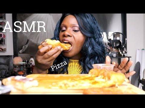 pizza-asmr-eating-sounds-cheezy-bites🍕😍🍕