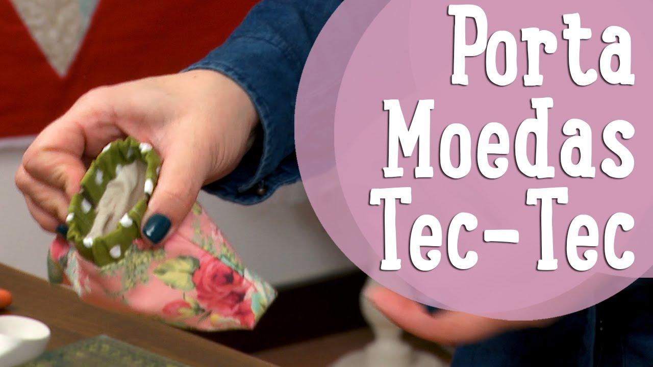 d16a42960 Porta-Moedas com Fecho Pec-Pec (Tec-Tec) - YouTube