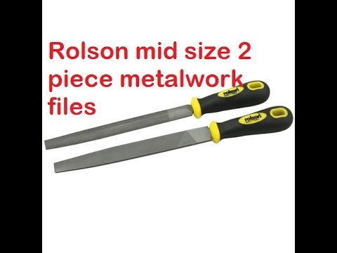 Rolson mid size (150mm) 2 piece metalwork files. - Tool tips