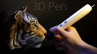 [3D pen] Making a tiger.
