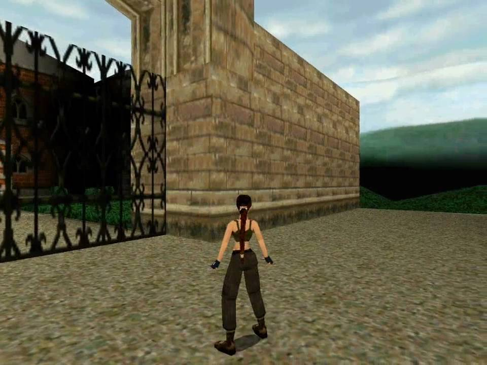Tomb Raider 2 Croft Manor Rooftop Outside The Gate Youtube