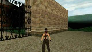 Tomb Raider 2 Croft Manor Rooftop & Outside the Gate