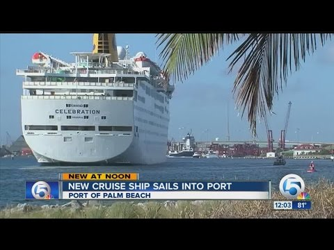 Grand Celebration sails into Port of Palm Beach