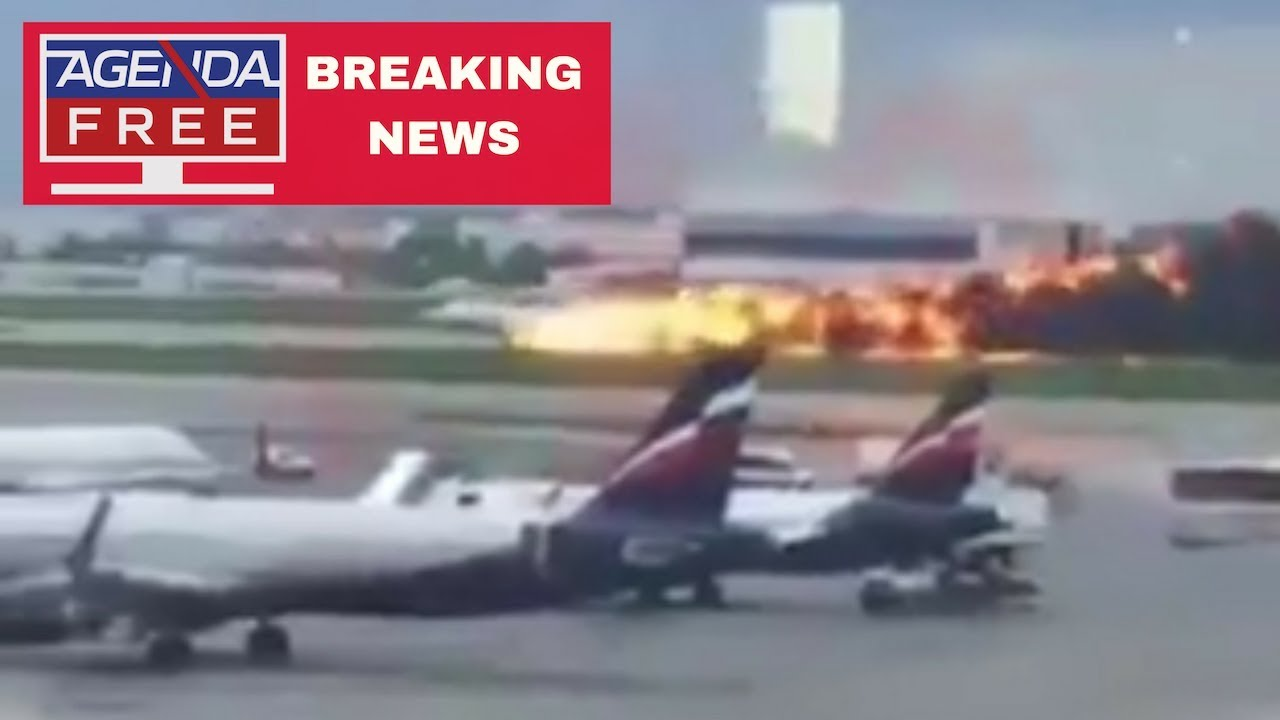 Plane On Fire at Moscow's Sheremetyevo Airport - LIVE BREAKING NEWS COVERAGE