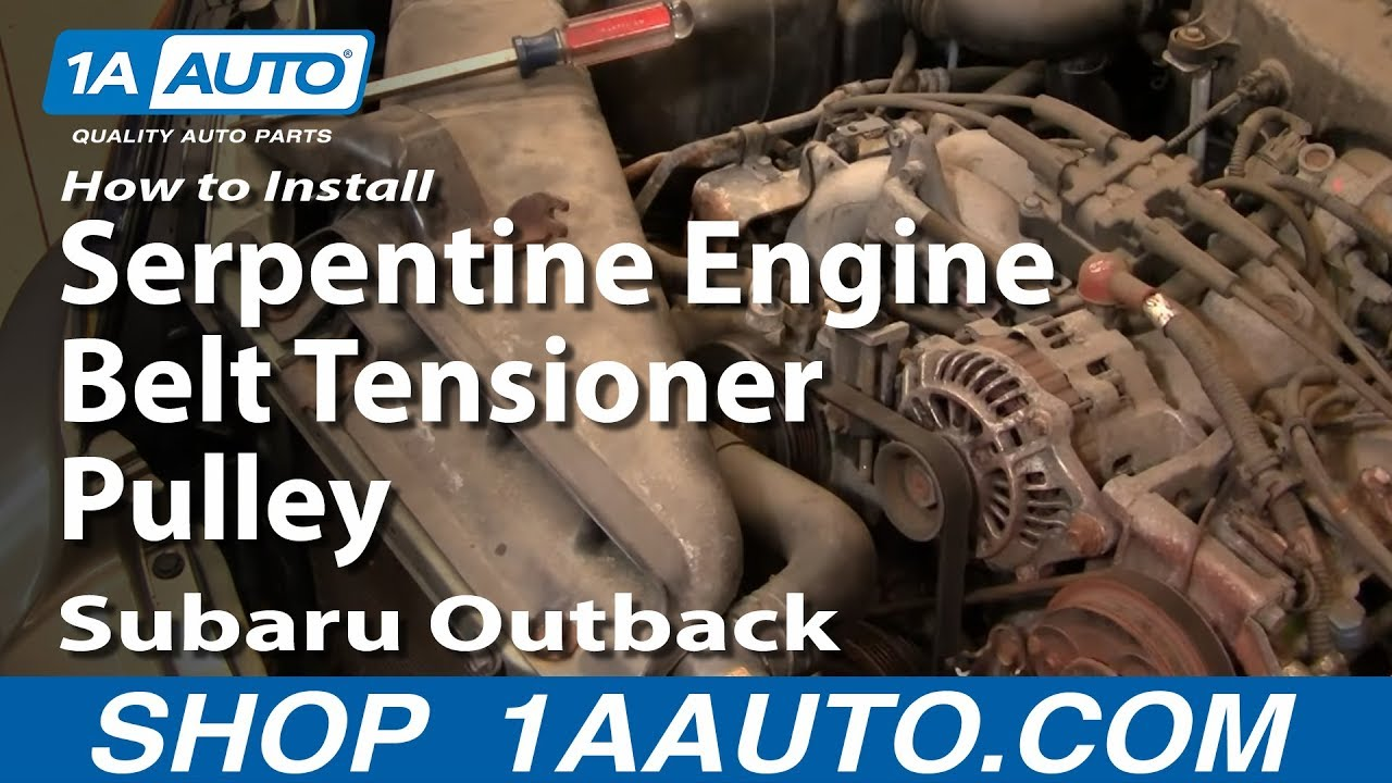 how to install replace serpentine engine belt tensioner pulley rh youtube com Subaru 2.0 Boxer Engine Diagram Subaru Boxer Engine History