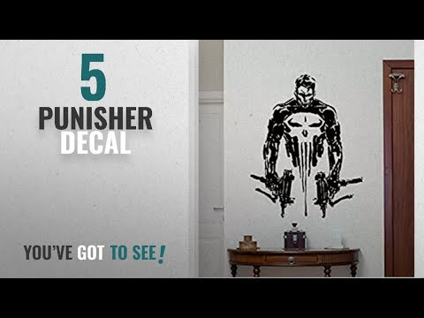 Top 10 Punisher Decal [2018]: CarolGreyDecals Punisher Wall Vinyl Decal Marvel Superhero Wall