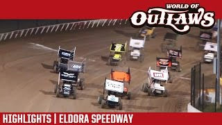 World of Outlaws Craftsman Sprint Cars Eldora Speedway Highlights