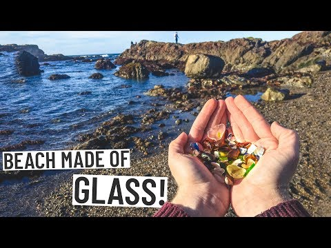Road Trip to INCREDIBLE GLASS BEACH! + DELICIOUS PIZZA! (San Francisco 🚗 Fort Bragg)