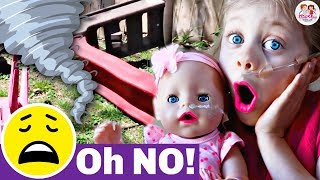 😱 Worst TORNADO SCARE‼️ Baby Doll Twins' 1st Twister...🌪