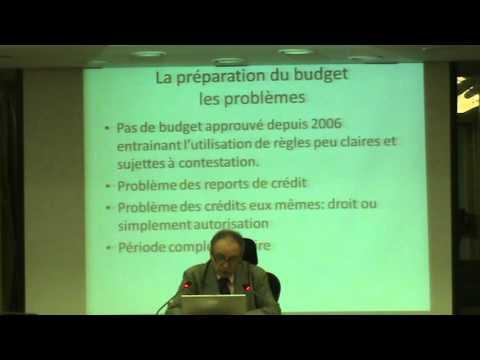"""""""La préparation du budget"""" par l'expert M. Dominique Bouley"""