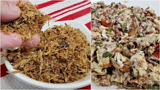 BREAKFAST   Machaca with Eggs Recipe   Mexican Dried Beef and Eggs Recipe
