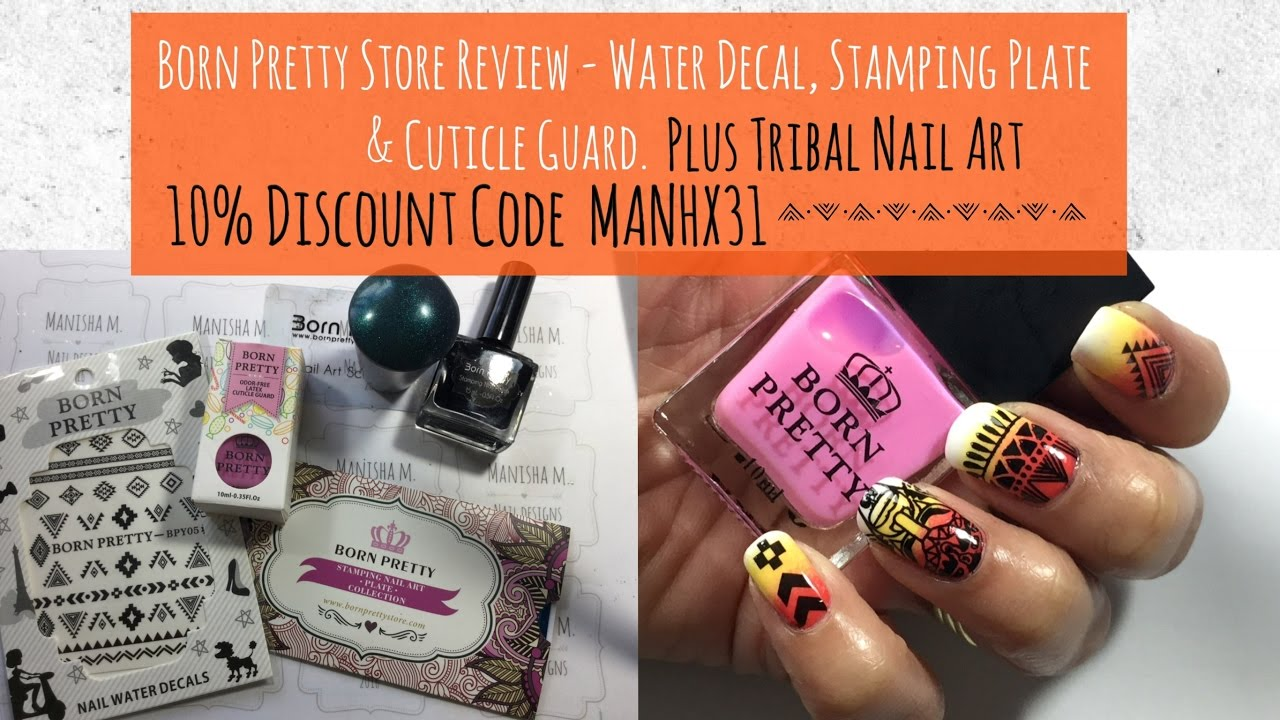 Born Pretty Store Review Plus Tribal Nail Art || 10% Discount Code ...