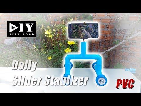 DIY Home Made PVC Smartphone Dolly slider stabilizer