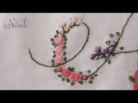 How to embroider a Bullion Stitch, Rosebud, and Rose | Detailed visuals and concise tutorial