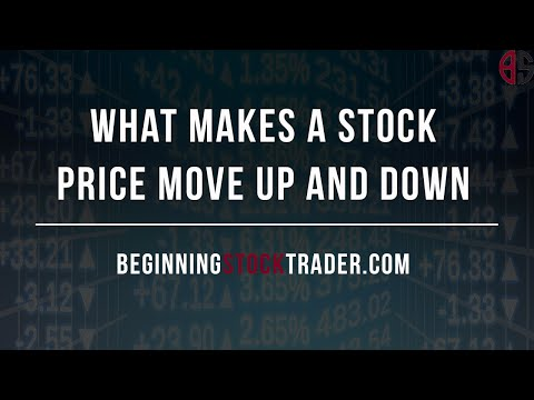 What Makes Stock Prices Move Up and Down