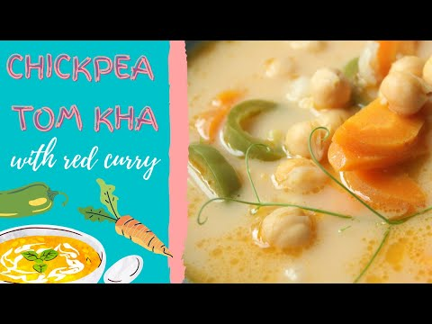 How To Make A Chickpea Tom Kha with Red Curry (vegan + gluten-free)