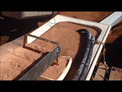 Alluvial Gold Prospecting - How to Set up a Basic Wet Plant - Self Reticulating