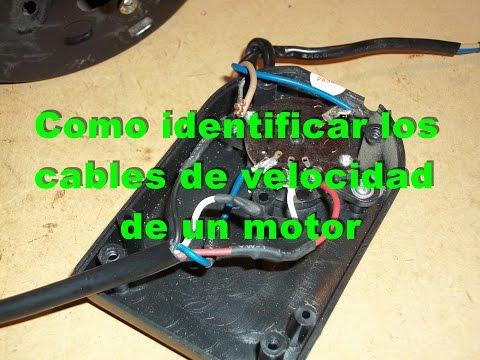 Como identificar los cables de velocidades de un ventilador