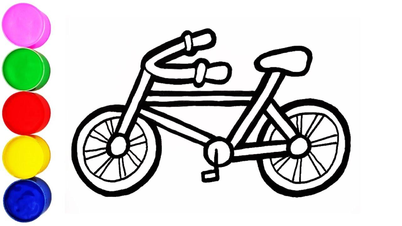 Fahrrad Zeichnen und Malen für Kinder Deutsch für Kinder ...