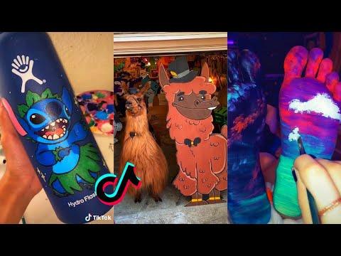 People Painting Things on TikTok for 7 Minutes Straight Part 5   Tik Tok Art
