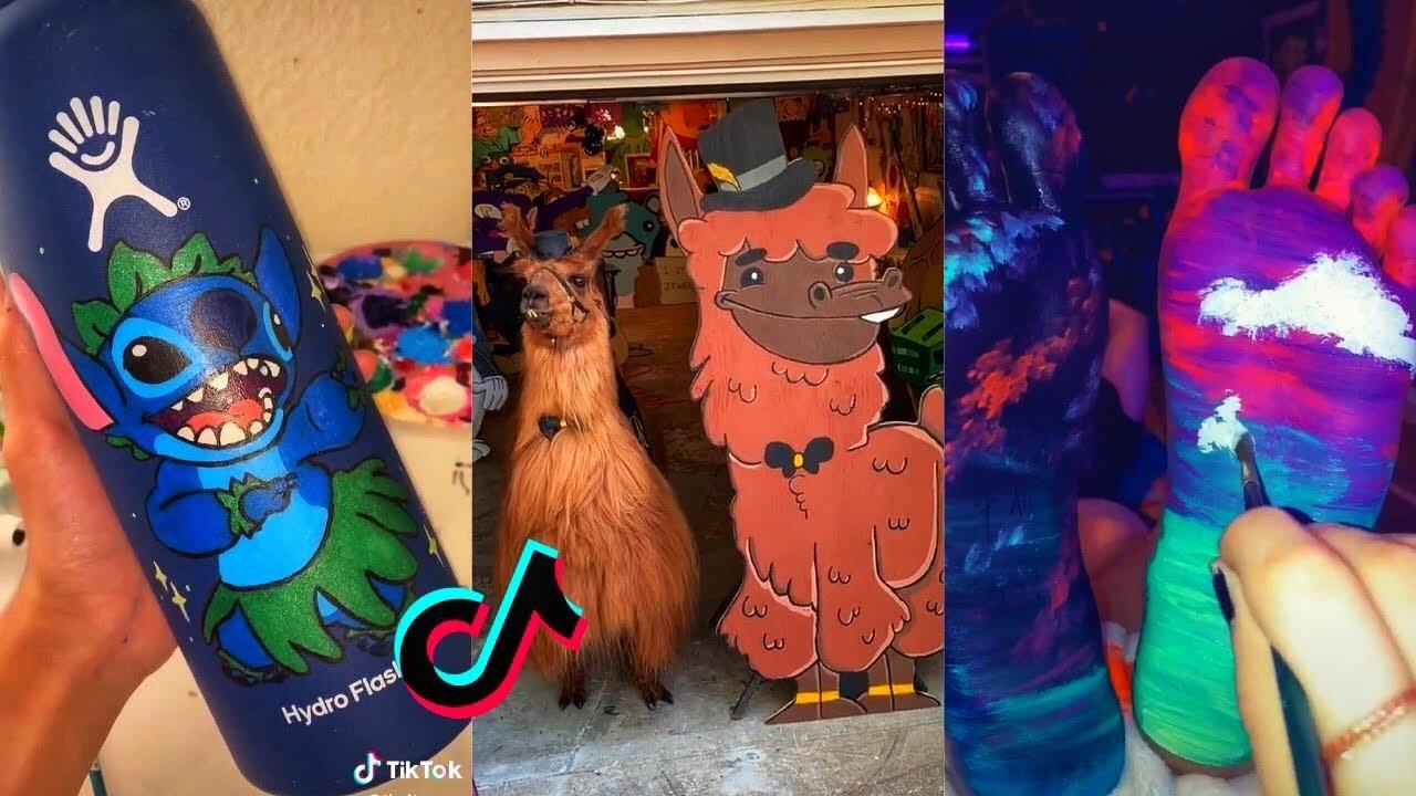 People Painting Things on TikTok for 7 Minutes Straight Part 5 | Tik Tok Art