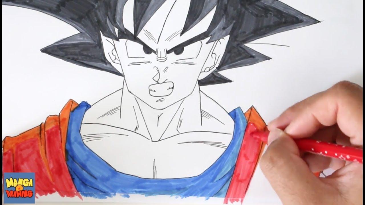 Colorier Goku Avec Des Feutres Pas Cher Dbz Youtube