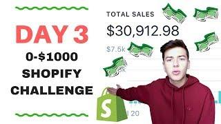 🔥 DAY 3 | SHOPIFY $0-$1000 CHALLENGE | PROFITS 🔥