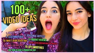 100 + video ideas to do as a beauty guru/ lifestyle guru!