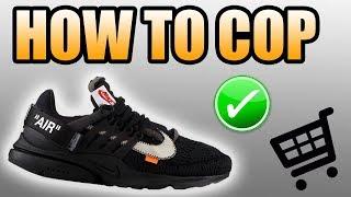 How To Get The BLACK OFF WHITE PRESTO !   Black Off White Presto Release info !
