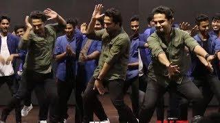 vishwak sen Never Seen Teen Maar Dance Steps At HIT Movie Promotions   Hit Movie Trailer Reaction
