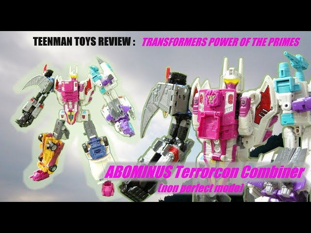 TRANSFORMERS POWER OF THE PRIMES ABOMINUS Terrorcon Combiner(non perfect mode)