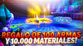 😍PAPA NOEL GIVES ME +100 WEAPONS POWER 130 AND 10000 MATERIALS😍 - Fortnite Save the World