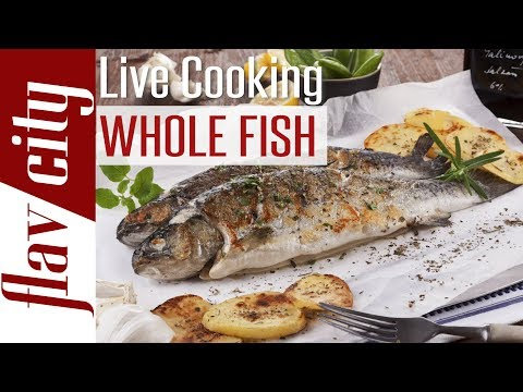 🔴 Whole Roasted Branzino With Sunchokes & Spinach