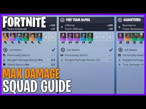 FORTNITE! Squad Guide - Maximize Your Damage! #Fortnite