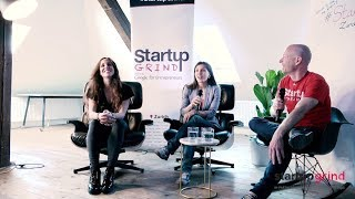 Female founders' month - Svetlana Baurens & Michela Puddu at Startup Grind Zurich, w/ David Butler