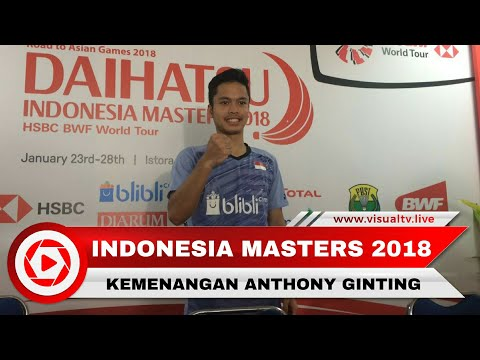 Interview Kemenangan Anthony Ginting di Indonesia Masters 2018 Mp3