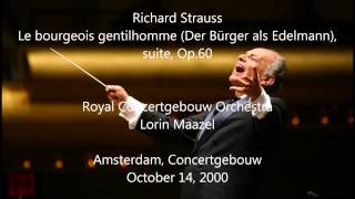 Video Richard Strauss: Le bourgeois gentilhomme - Lorin Maazel (HD 1080p - Audio video) download MP3, 3GP, MP4, WEBM, AVI, FLV November 2017