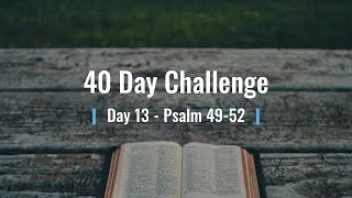 40 Day Challenge Day 13