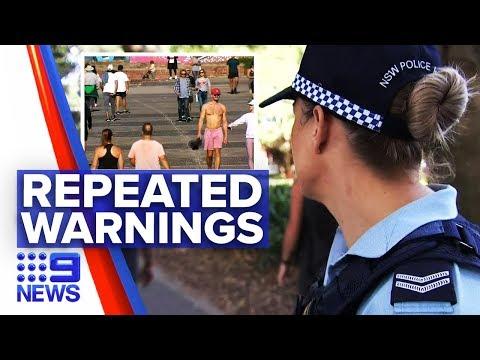 Coronavirus: Hundreds fined over Easter long weekend | Nine News Australia